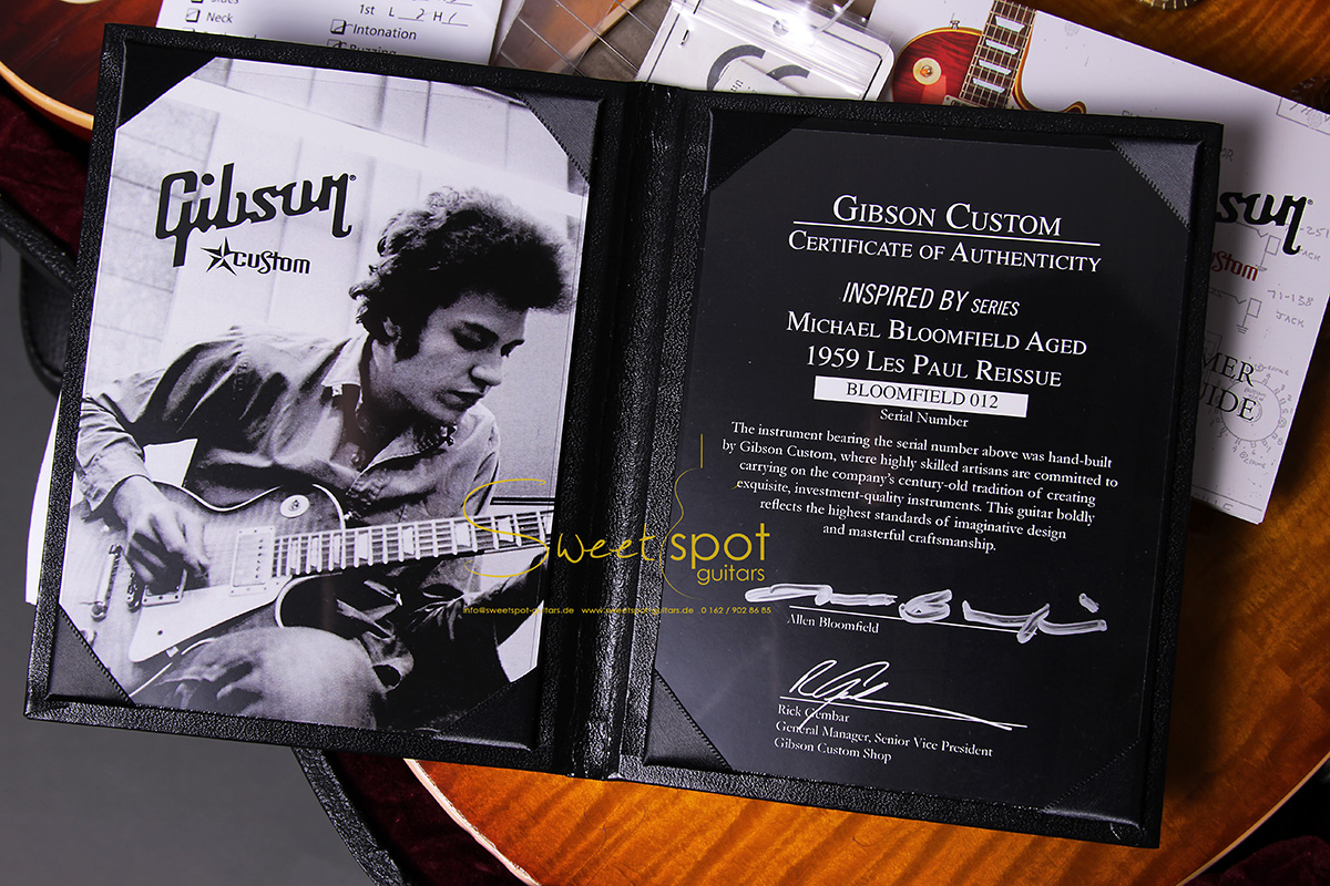 2009 Gibson Les Paul 1959 Historic Reissue Mike Bloomfield