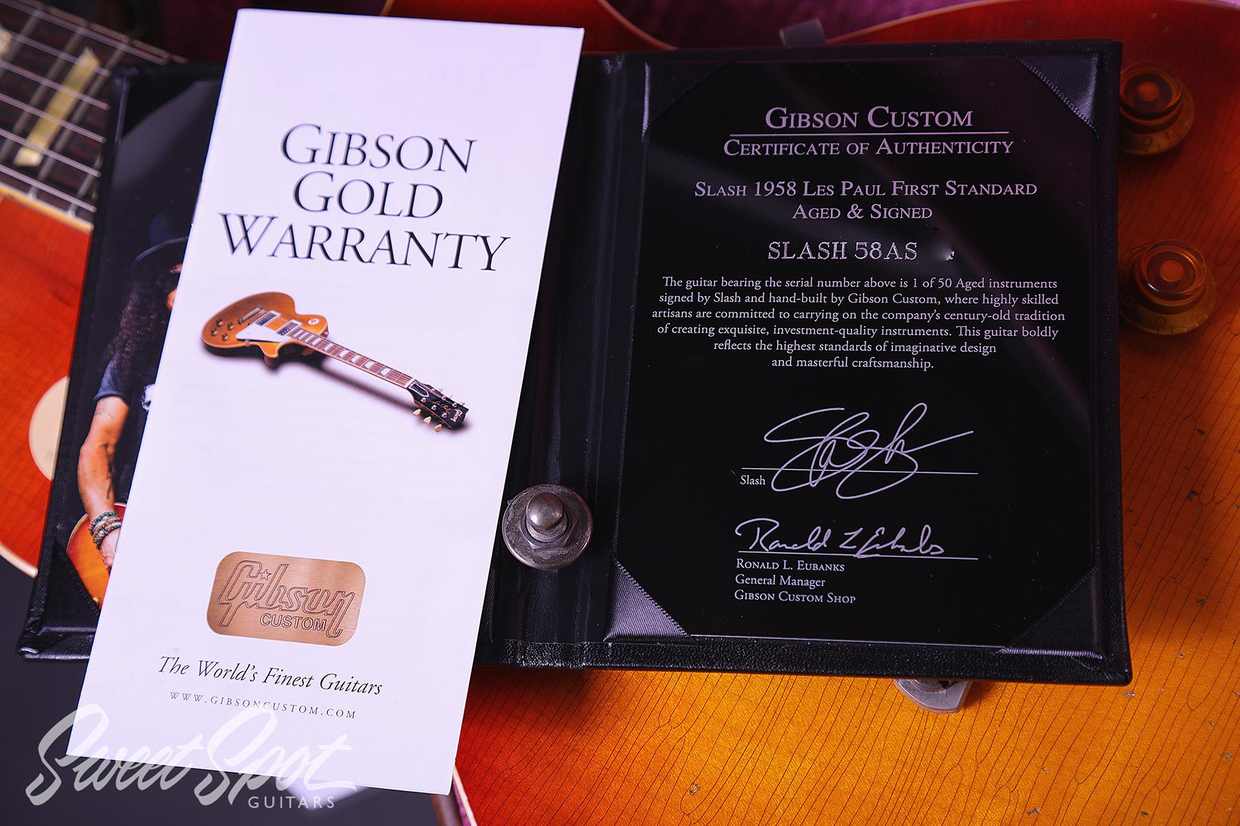 2017 Gibson Les Paul Slash 58 First Standard Run AGED