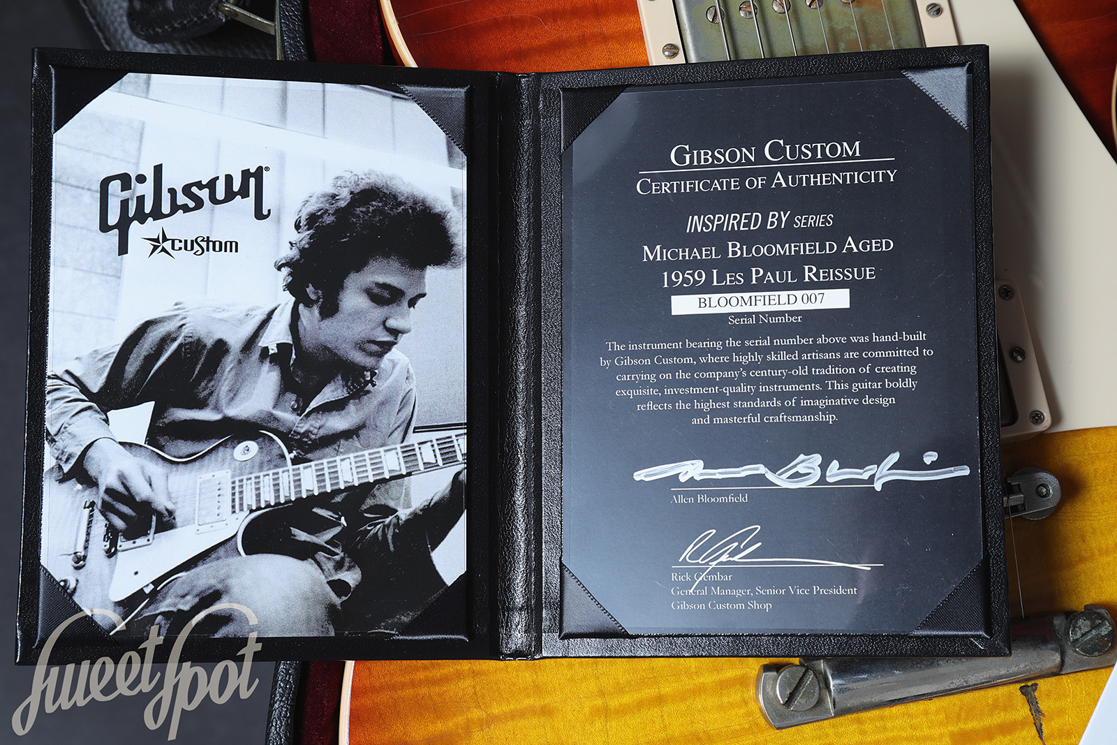 2009 Gibson Les Paul 1959 Standard Mike Bloomfield Aged by
